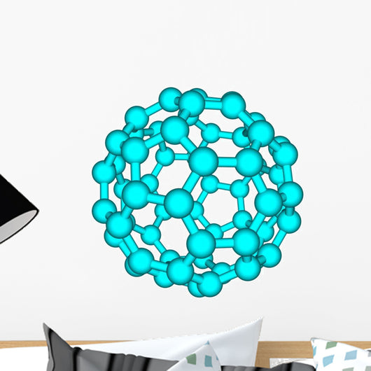 Fullerene molecule illustration isolated on white Wall Decal