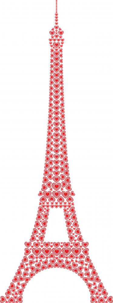 Eiffel Tower Paris Made With Love Hearts