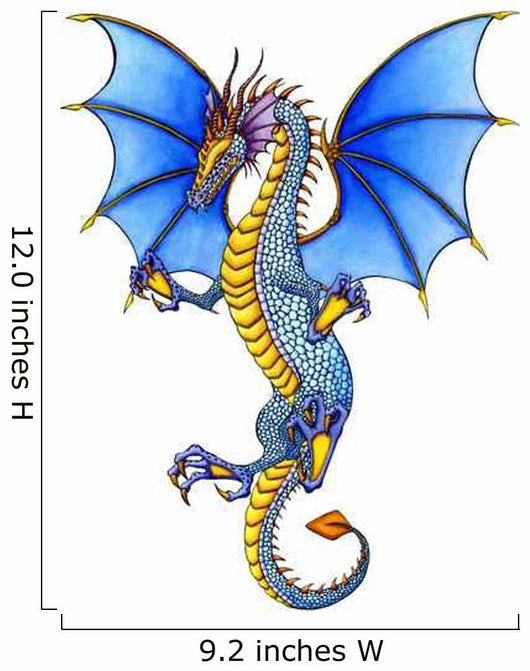 Blue Dragon Wall Decal