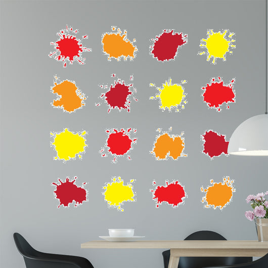 Set of Colorful Abstract Vector Drops Wall Decal