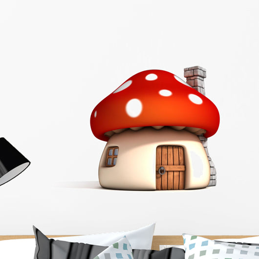 Fairy Mushroom House Wall Decal
