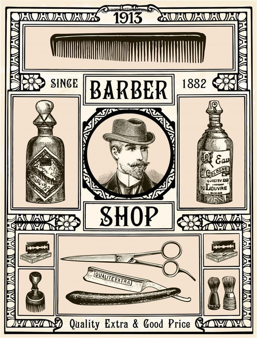 Barber Shop Wall Decal Wallmonkeys Com