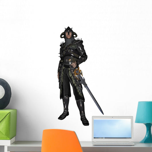 Dark Knight in Shining Armour Wall Decal