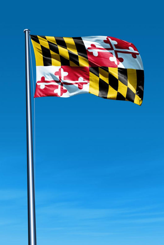 Maryland (USA) flag waving on the wind Wall Mural