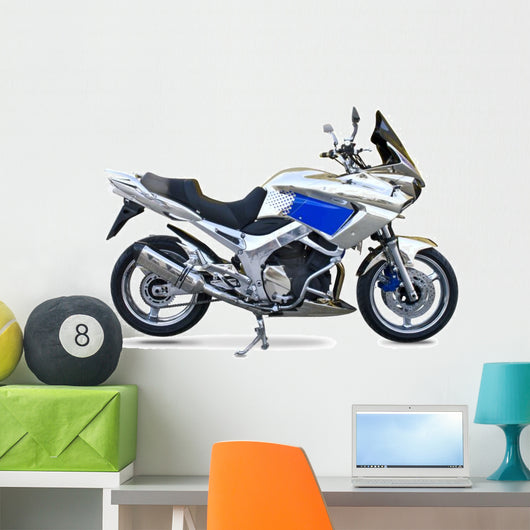Motorcycle isolated on white Wall Decal