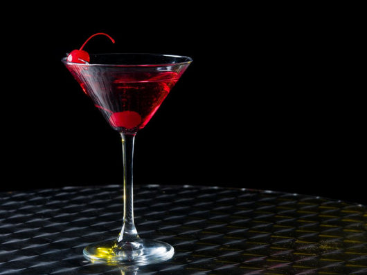 Glass with Red Cocktail
