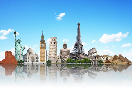 Travel World Monuments Concept