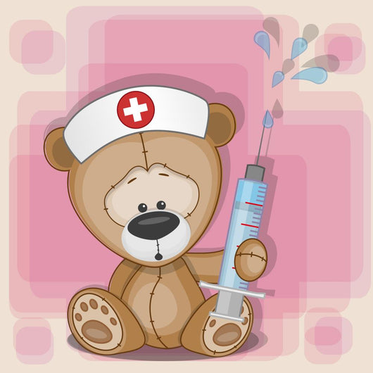 Teddy Bear nurse Wall Mural