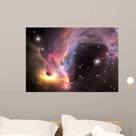 Heavy black hole absorbing gas and dust from around Wall Mural