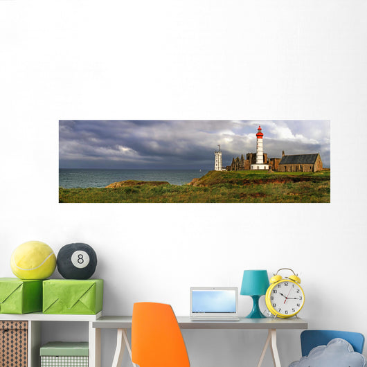 French Seaside Lighthouse Wall Mural