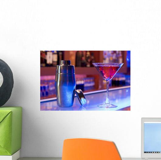 cocktail drink and shaker Wall Mural