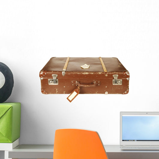 Retro Suitcase White Wall Mural