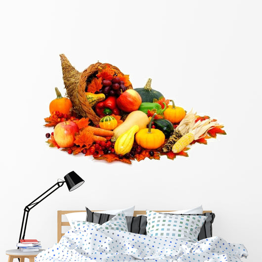 Thanksgiving Cornucopia Wall Decal