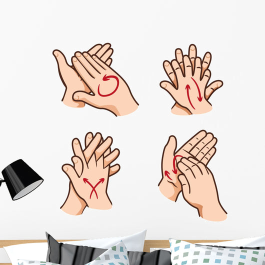 Person Washing Hands Wall Stickers