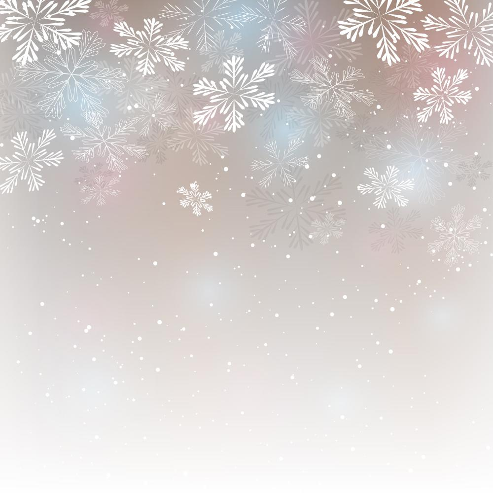Abstract Christmas with Snowflakes Wall Decal
