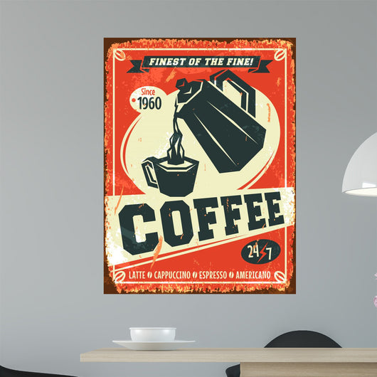Vintage Coffee Wall Mural