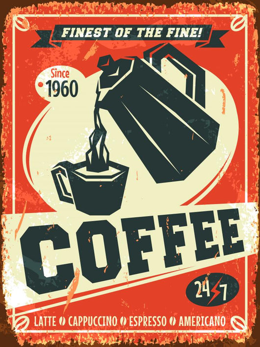 Vintage Coffee Wall Decal 2