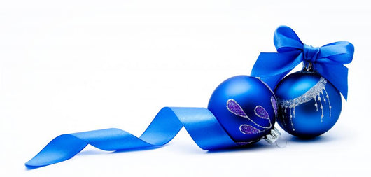 Two Blue Christmas Ball