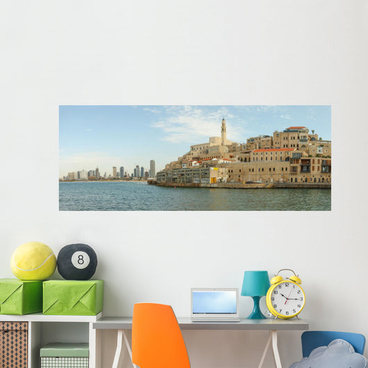 View of Jaffa with Tel Aviv in the background Wall Mural