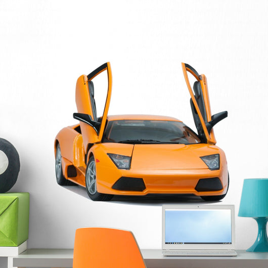 Yellow Lamborghini Car Wall Decal