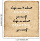 Inspirational motivating quote on old paper background Wall Decal