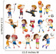 Kids playing sport Wall Decal