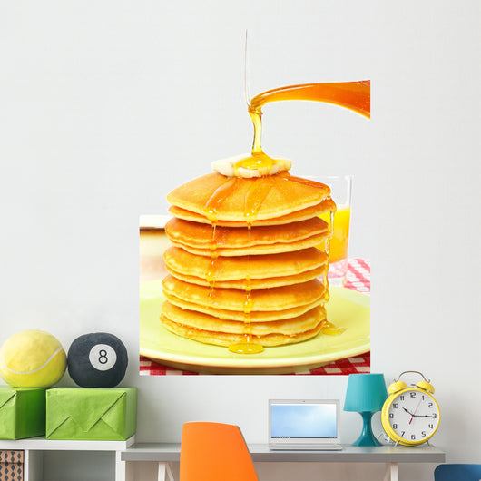 Pouring Syrup Pancakes Wall Decal