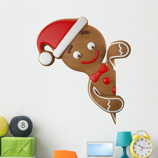Christmas gingerbread man Wall Decal