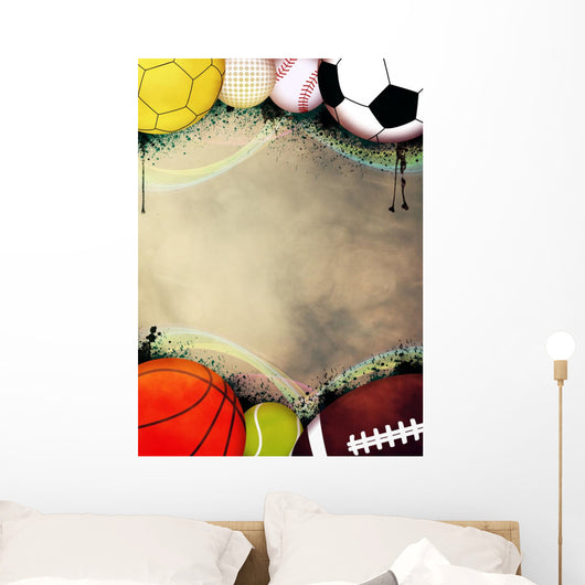 Sport balls background Wall Mural