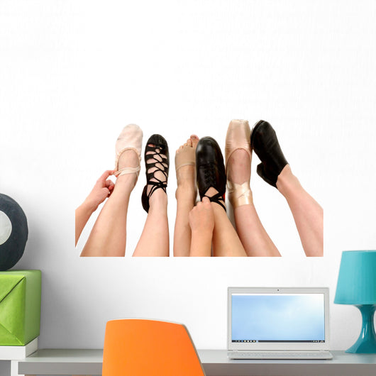 Feet and Dance Shoes Wall Decal
