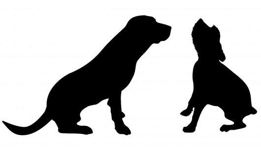 Vector Silhouette Dog