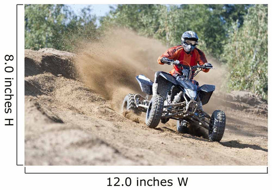 Rider driving in the quadbike race Wall Mural