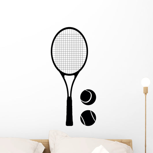 Tennis Racket and ball Wall Decal