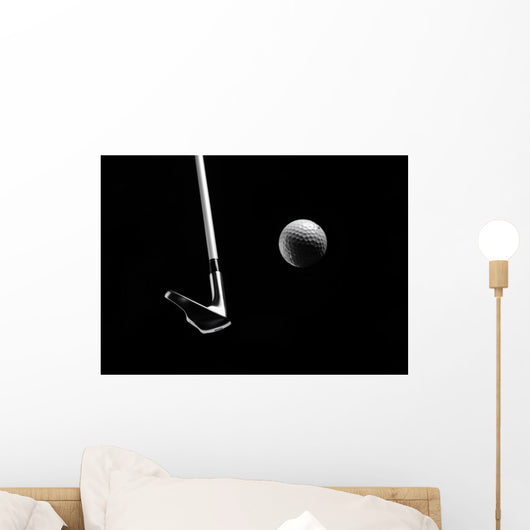 Golf Club Hitting a Golf Ball Wall Mural