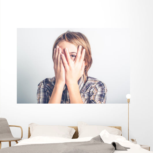 shy boy Wall Mural