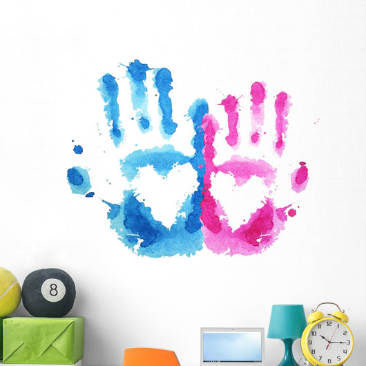 Love Hand Prints Wall Decal