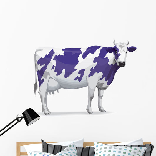 Purple Cow Wall Decal