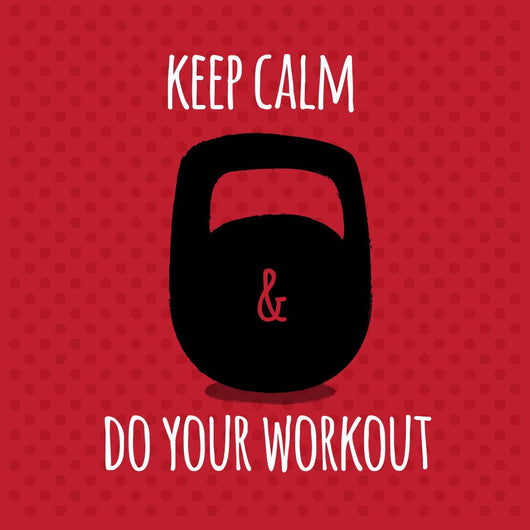 Greeting card. Sport motivation. keep calm and do your workout. Wall Mural