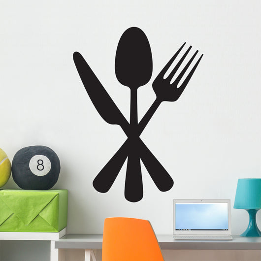 Knife, fork and spoon Wall Decal