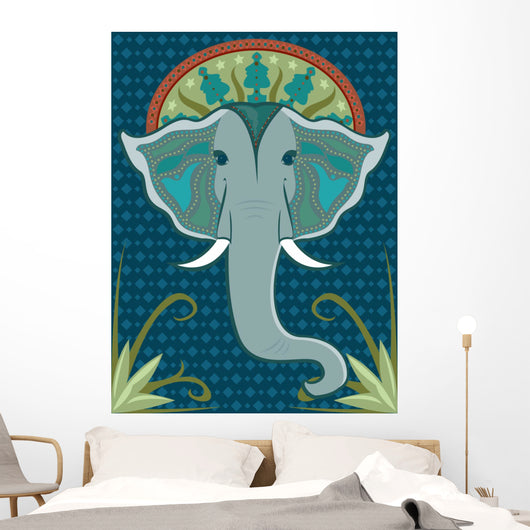 patterned elephant Wall Mural