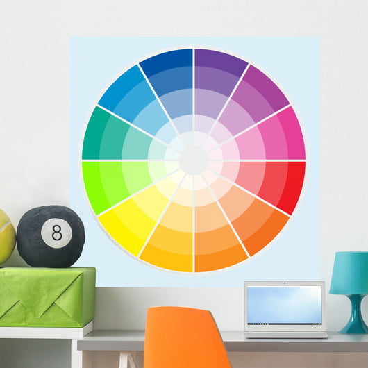 Color Wheel Light Wall Decal