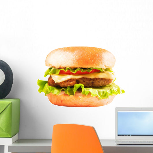 burger isolated on white Wall Decal