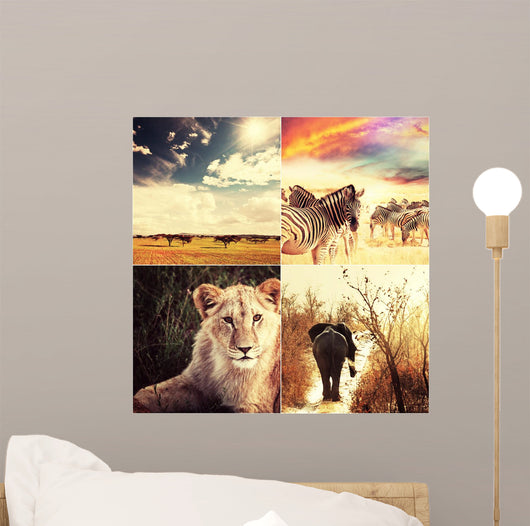 African Safari Wall Mural