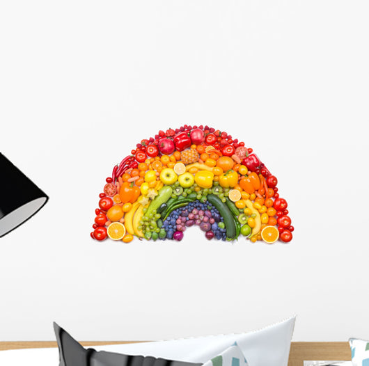 fruit and vegetable rainbow Wall Decal