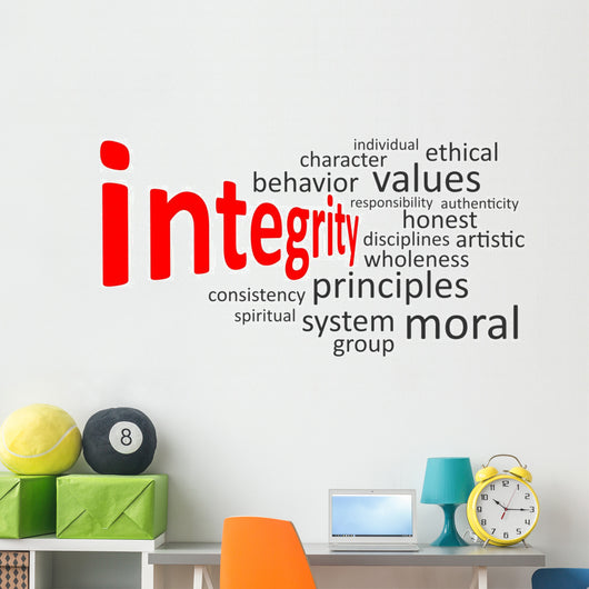 integrity word cloud Wall Decal
