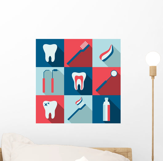 Iconic Dentist Montage Dental Wall Mural