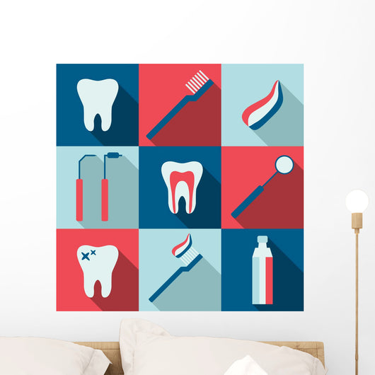 Iconic Montage Dental Wall Mural