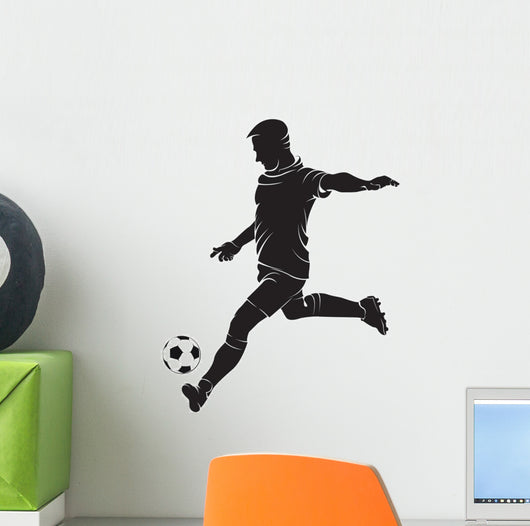 Football (soccer) player with ball Wall Decal