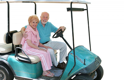 golf cart seniors isolated Wall Decal