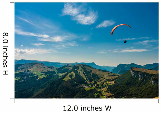 Paragliding on the sky Wall Mural